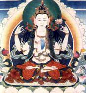 Chenrezig, Bodhisattva of Comapassion, holder of the White Lotus
